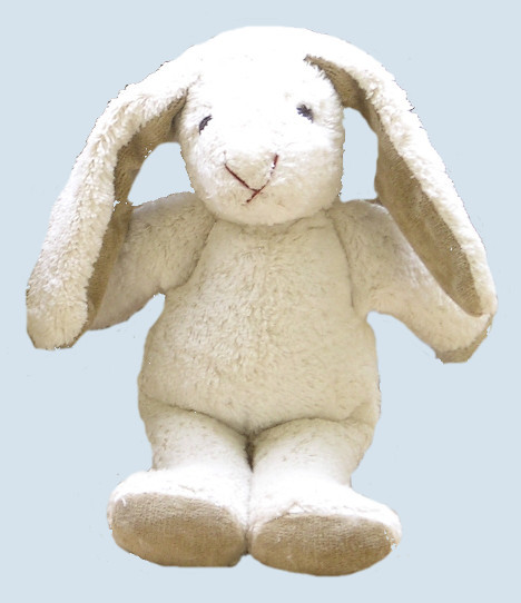 Kallisto cuddly animal Schnuffel - rabbit- white, organic cotton