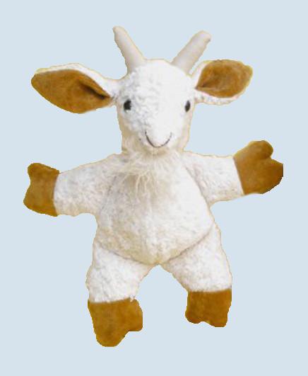 Kallisto Stofftier, Kuscheltier - Ziege - weiß, Bio Baumwolle