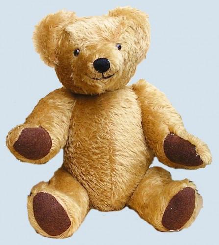 Kallisto Stofftier Bär, Teddy - mit Brummstimme, klein, goldfarben
