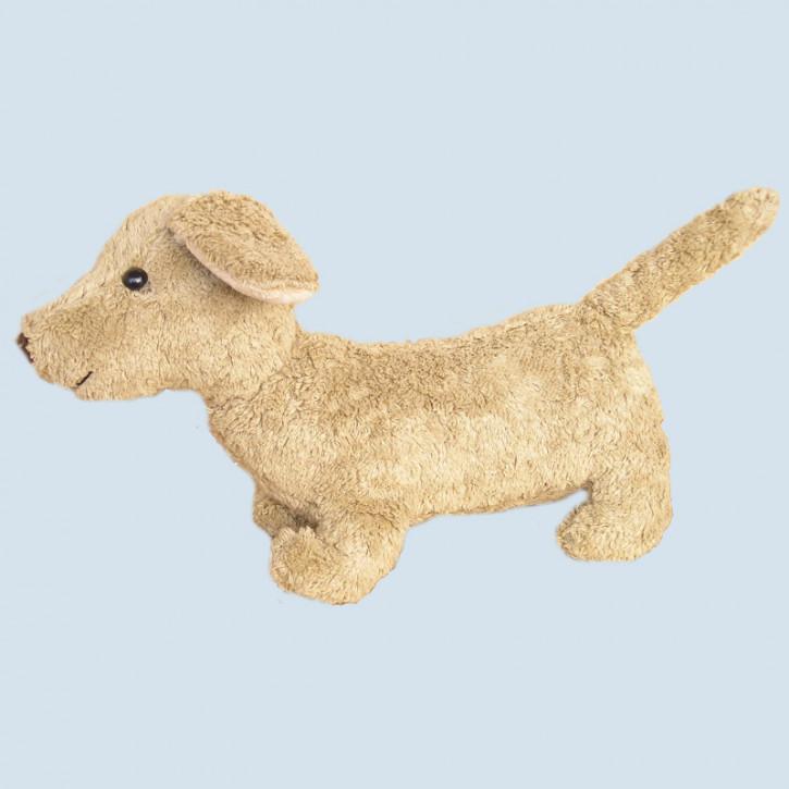 Kallisto Stofftier - Hund Dackel Waldi - Bio Baumwolle, öko