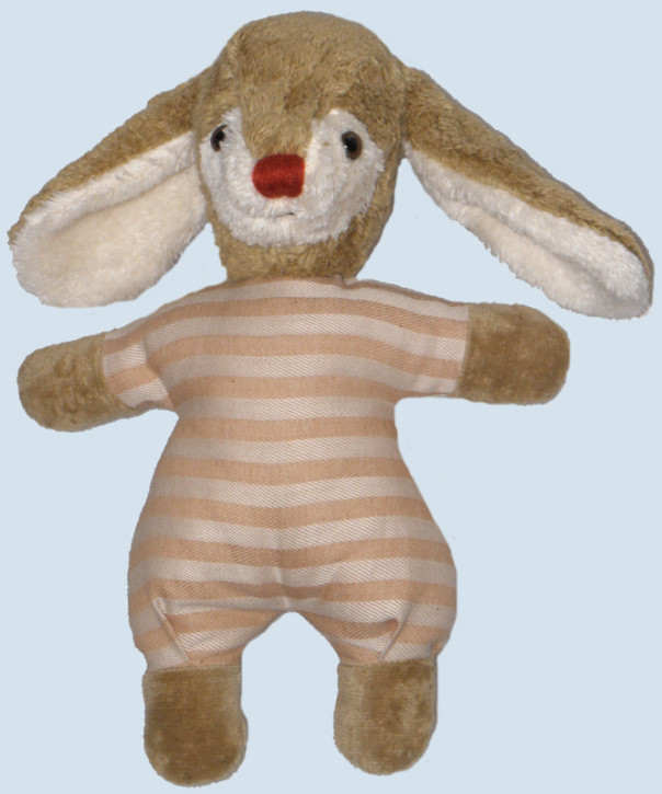 Kallisto cuddly toy - Rabbit / Bunny - beige, with a rattle, eco