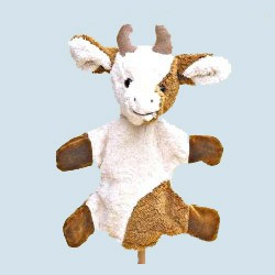 Kallisto Handpuppe - Kuh - Bio Baumwolle