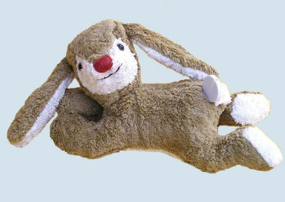 Kallisto music box - lying Rabbit, Bunny - beige, organic cotton, eco