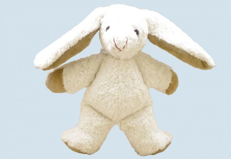 Kallisto stuffed animal - rabbit / bunny - white, organic cotton, eco