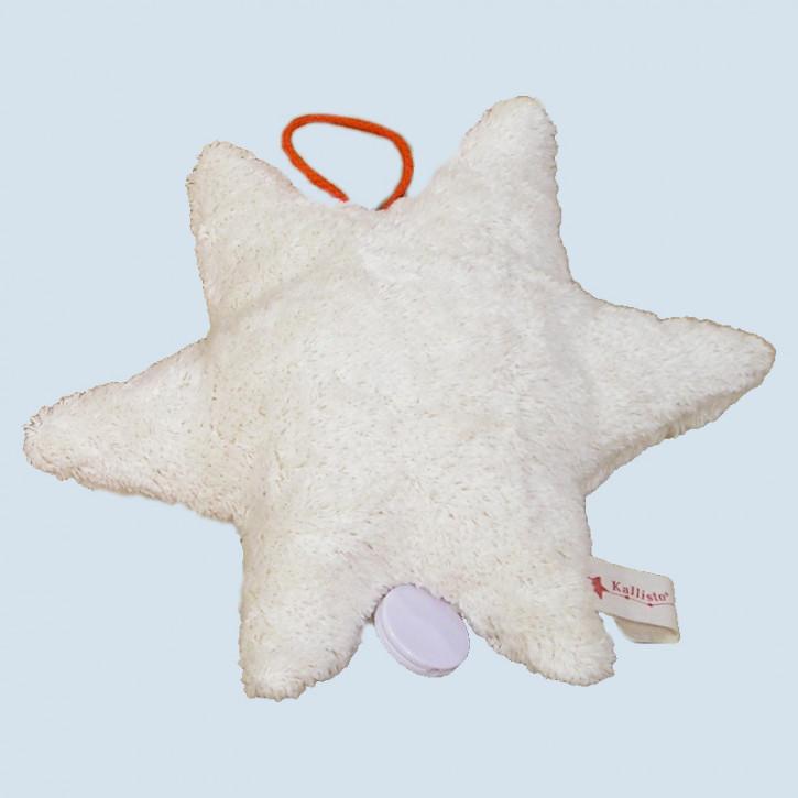 Kallisto Spieluhr - Stern - weiß, Bio Baumwolle