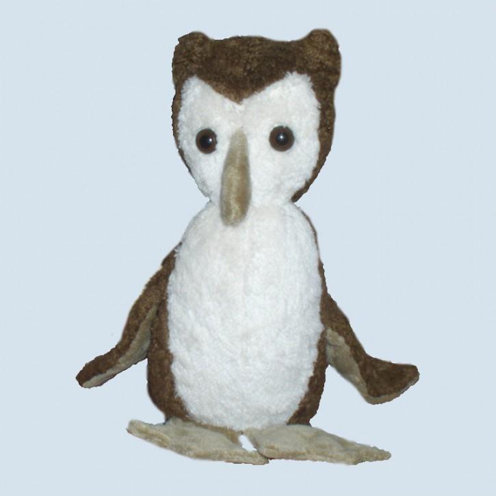 Kallisto cuddly animal - owl - brown, organic cotton