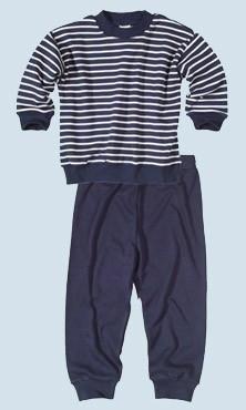 ec607dbec5 Living Crafts, Kinderschlafanzug blau - Baumwolle, bio, Größe 152