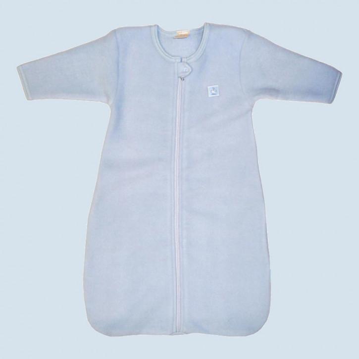 Lana Babyschlafsack langarm - Fleece, Baumwolle, Bio - blau