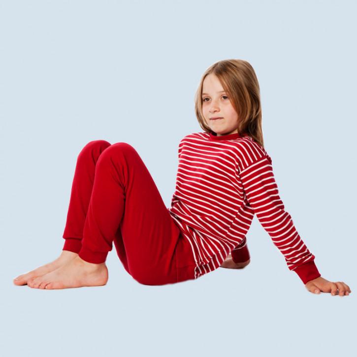 Living Crafts - Kinder Schlafanzug rot - Baumwolle, Bio Qualität
