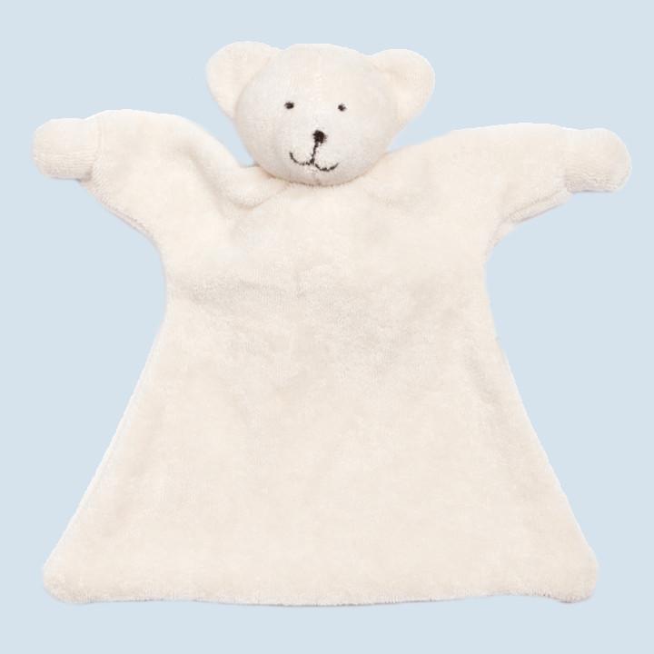 Nanchen Puppe - Nuckeltuch Eisbär - Bio Baumwolle, öko