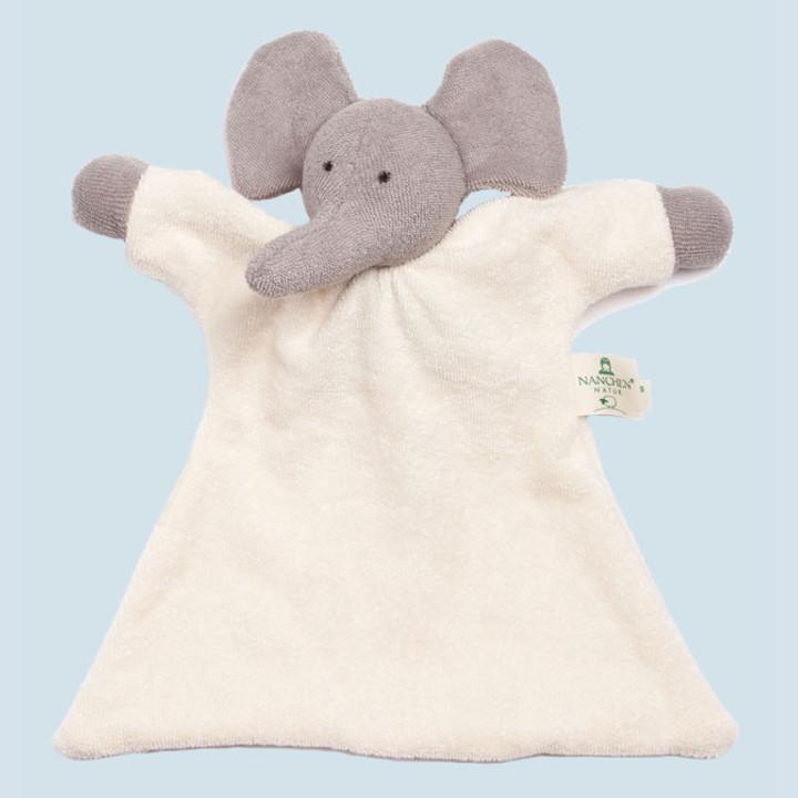 Nanchen Puppe - Nuckeltuch Elefant - Bio Baumwolle