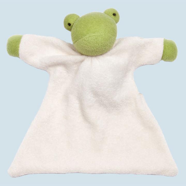 Nanchen Puppe - Nuckeltuch Frosch - Bio Baumwolle