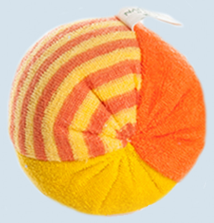 Nanchen - small Ball - orange- with Rattle - organic cotton