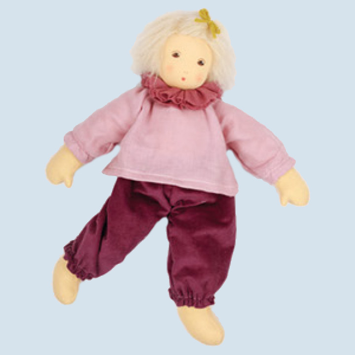 Nanchen eco doll - Paula - pink, organic cotton