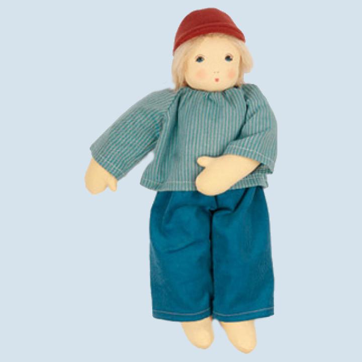 Nanchen eco doll - Pepe - blue, organic cotton