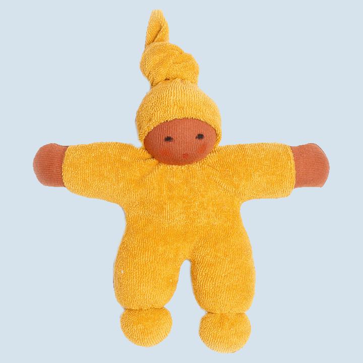 Nanchen Puppe - Schmusepuppe Pimpel - gold, Bio Baumwolle