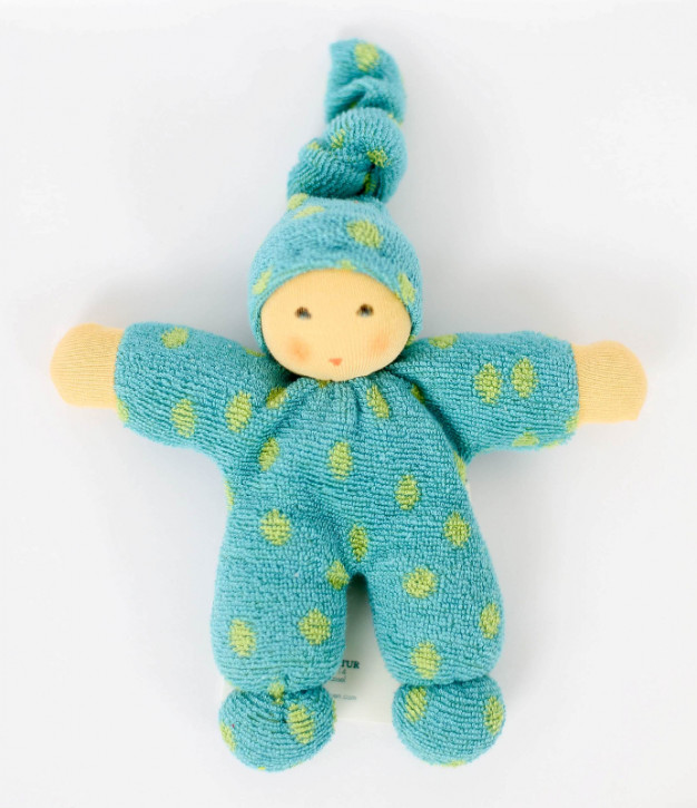 Nanchen Doll - Pimpel - green dots, organic cotton, eco