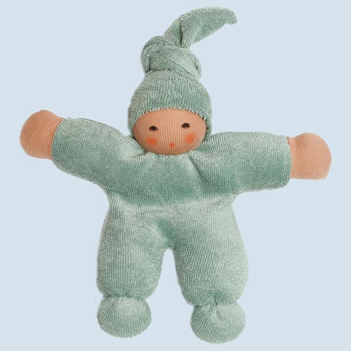 Nanchen Puppe - Schmusepuppe Pimpel - salbei, Bio Baumwolle