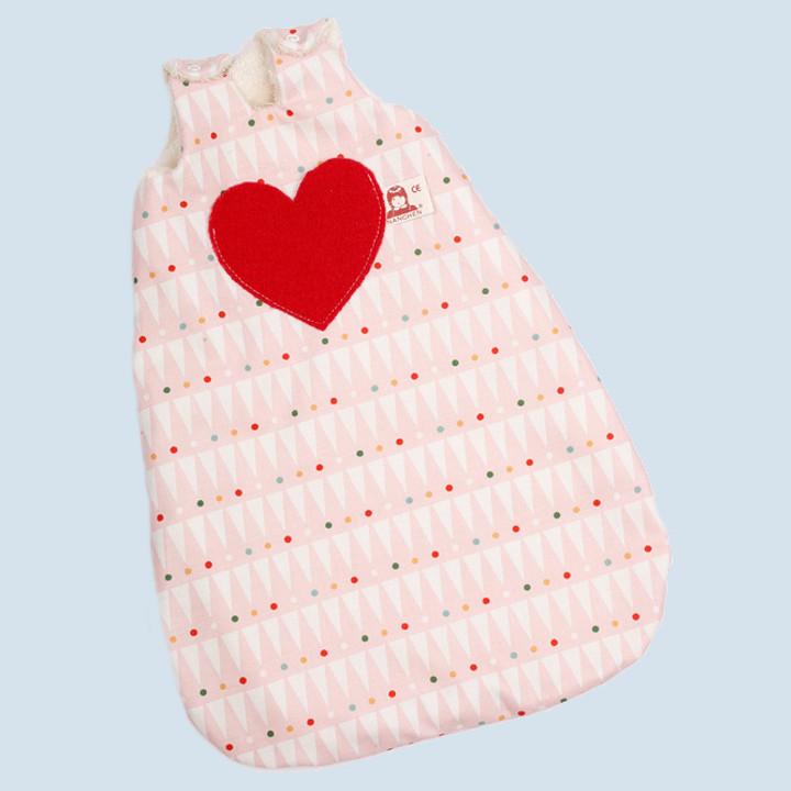 Nanchen Puppenkleidung - Schlafsack rosa, Bio Baumwolle