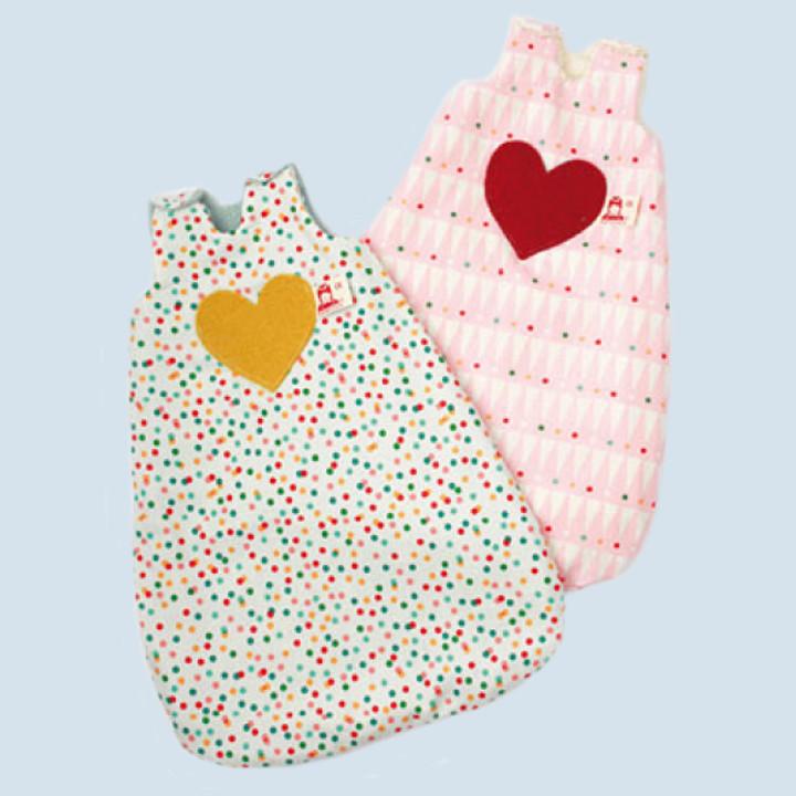 Nanchen doll clothing - sleeping bag, dots - organic cotton, eco