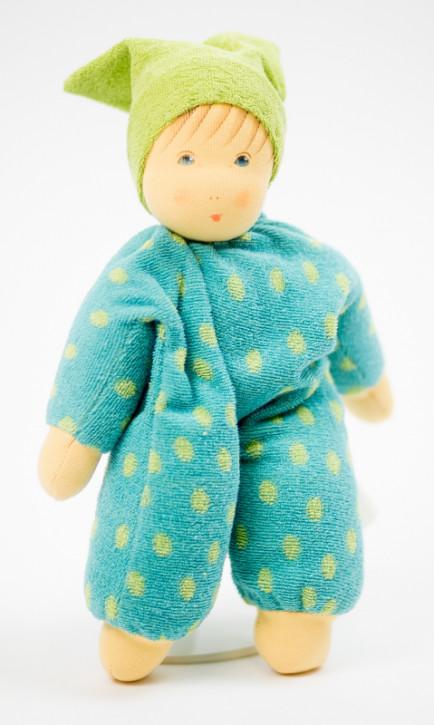 Nanchen Puppe - Schnucki - grün, Bio Baumwolle, öko