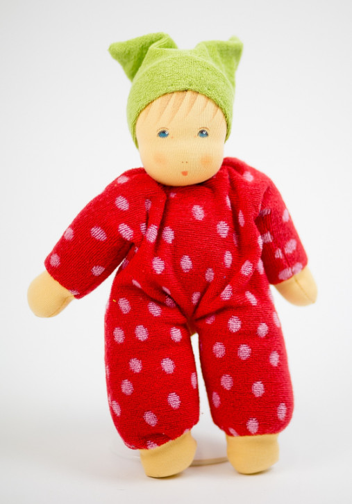 Nanchen eco doll - Schnucki - red, organic