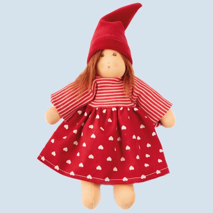 Nanchen Puppe - Flocke, Zwerg Frieda - Bio Baumwolle