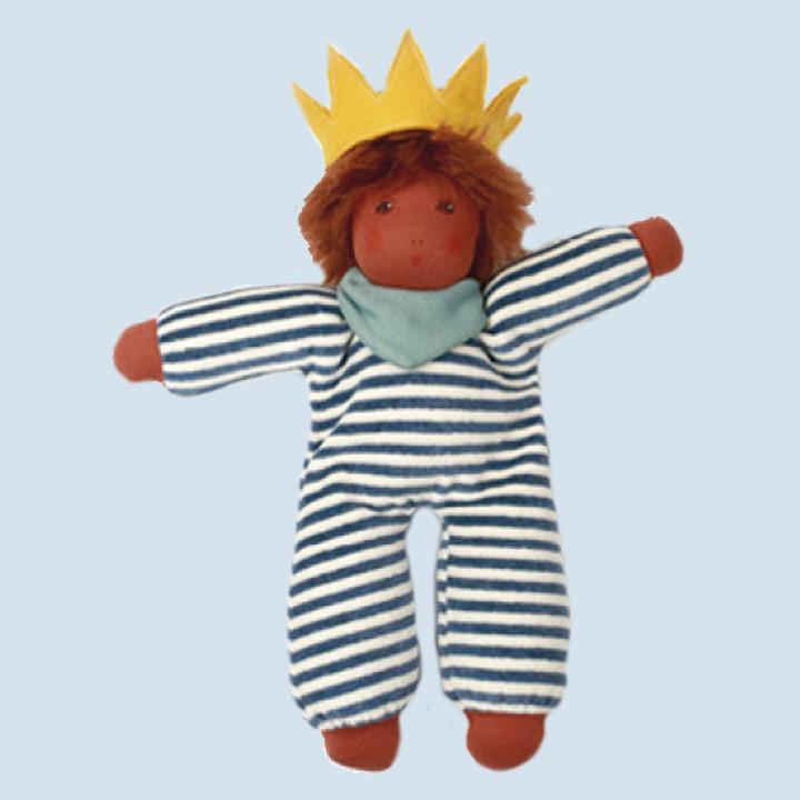Nanchen Puppe - Kleiner König Oskar, Bio Baumwolle