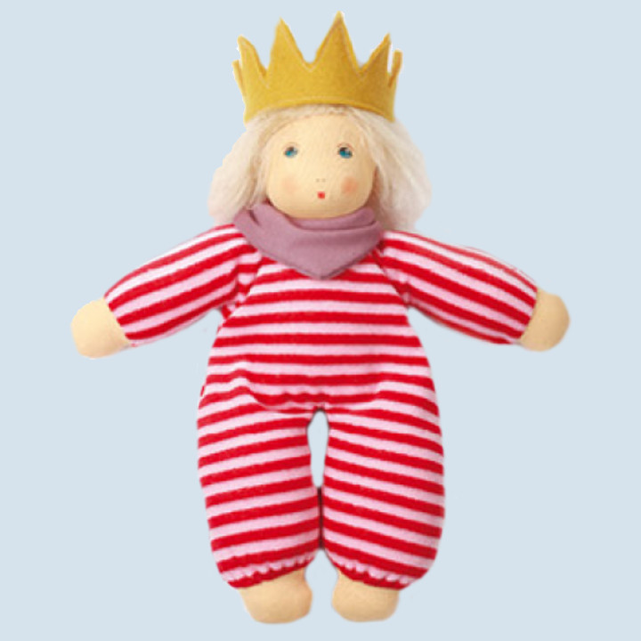 Nanchen Puppe - kleine Königin Luise, Bio Baumwolle