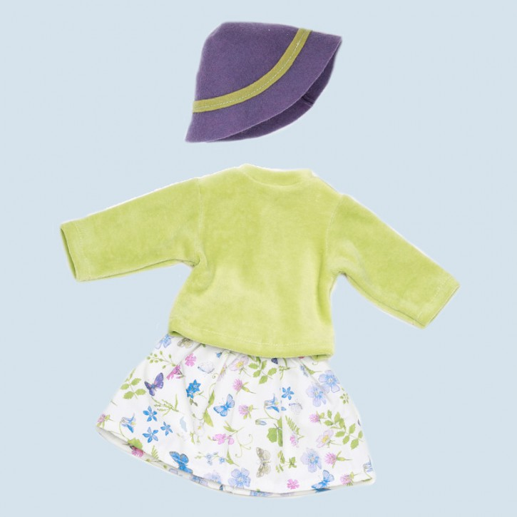 Nanchen doll clothing set - gardener - organic cotton, eco