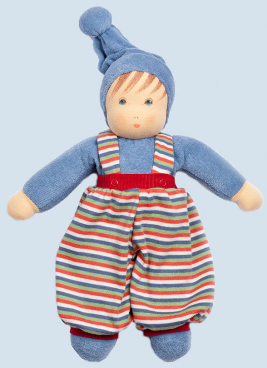 Nanchen eco doll - Boy - blue, organic cotton