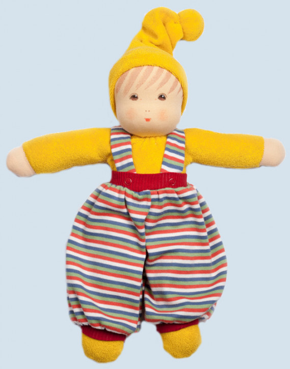 Nanchen eco doll - Boy - yellow, organic cotton