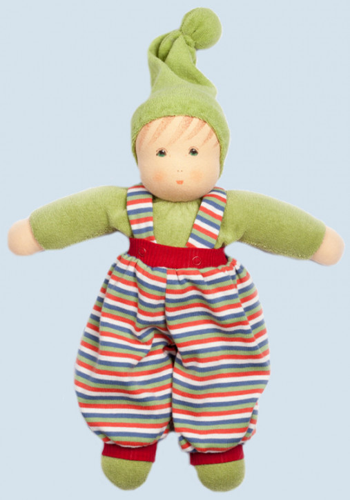 Nanchen eco doll - Boy - green, organic cotton