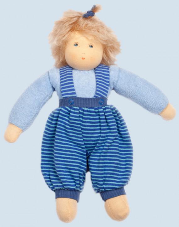 Nanchen Puppe - Clara - blau, Bio Baumwolle, öko