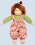 Nanchen Puppe - Clara - grün, Bio Baumwolle, öko