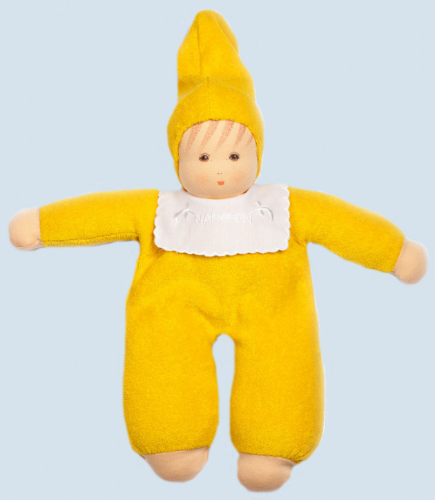 Nanchen organic doll - soft baby - yellow, organic