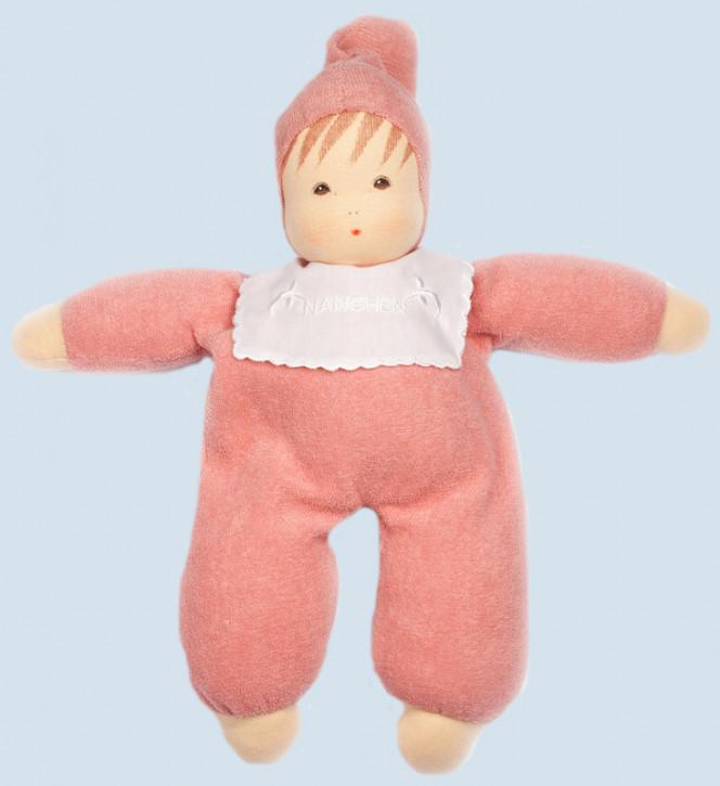 Nanchen Puppe - Baby - rosa, Frottee, Bio Baumwolle, öko