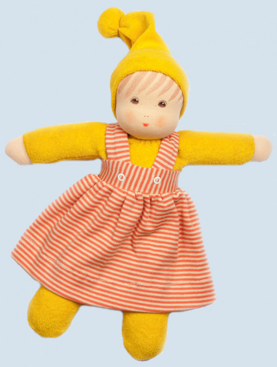 Nanchen eco doll - Girl - yellow, organic cotton