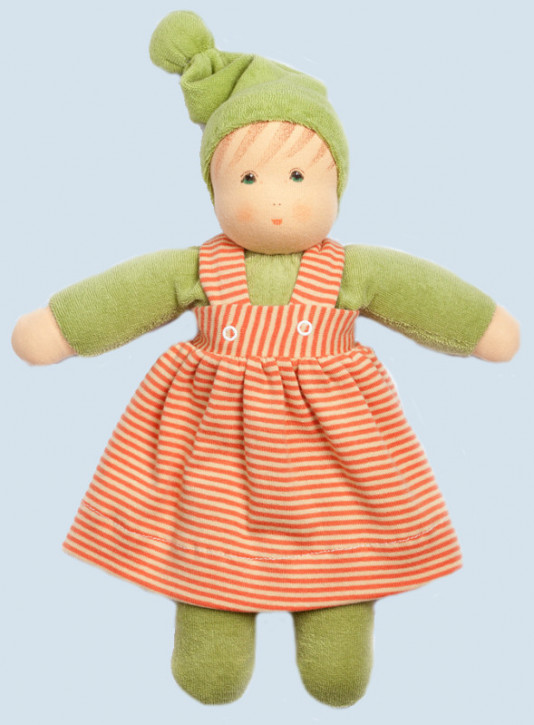 Nanchen eco doll - Girl - green, organic cotton, eco