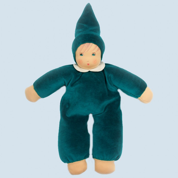 Nanchen doll - Nani emerald - organic cotton, eco