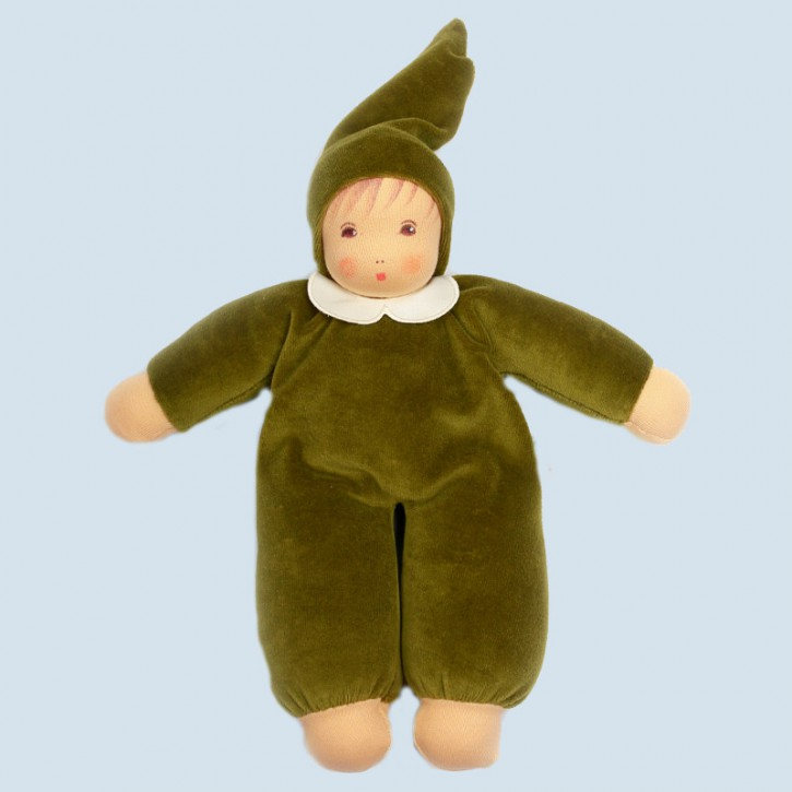 Nanchen Puppe - Nani - waldgrün, Bio Baumwolle, ökologisch