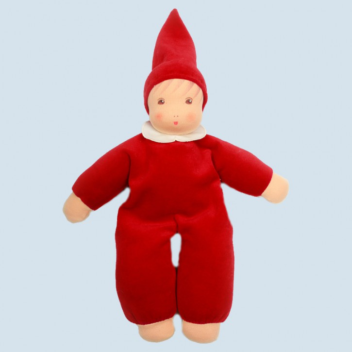Nanchen doll - Nani - cherry red, organic cotton, eco