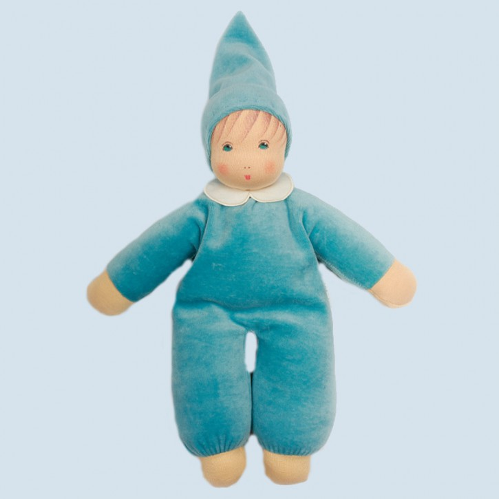 Nanchen doll - Nani turquoise - organic cotton, eco