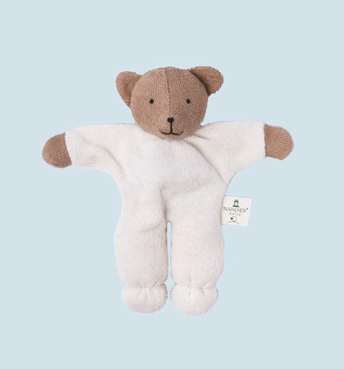 Nanchen - organic soft toy - bear - with a rattle