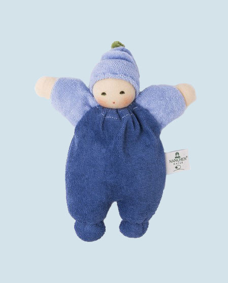 Nanchen puppet - Berry - blue, organic cotton, eco