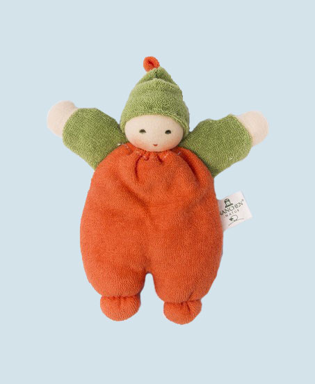 Nanchen puppet - Berry - orange, organic cotton, eco