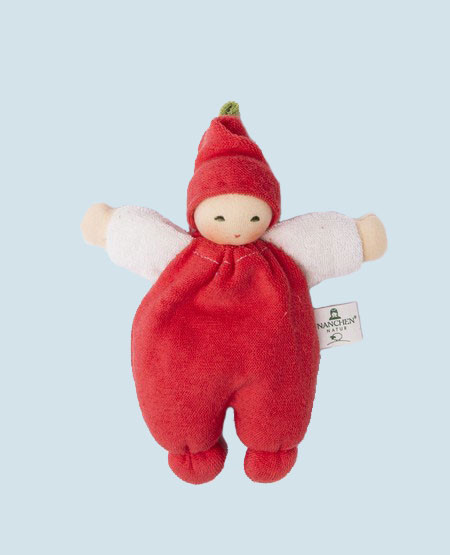 Nanchen puppet - Berry - red, organic cotton, eco