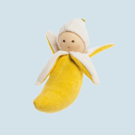 Nanchen puppet - Banana - soft doll, organic cotton, eco