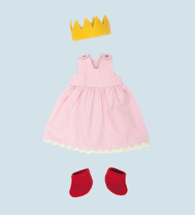 Nanchen - organic doll clothing - Princess, pink, organic cotton