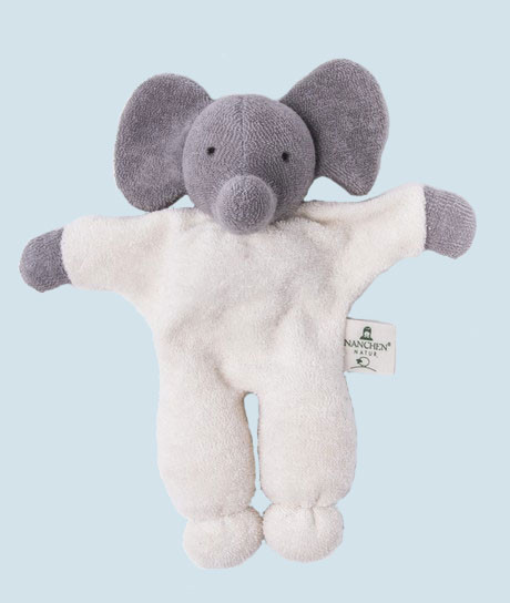 Nanchen - organic soft toy - elephant - with a rattle